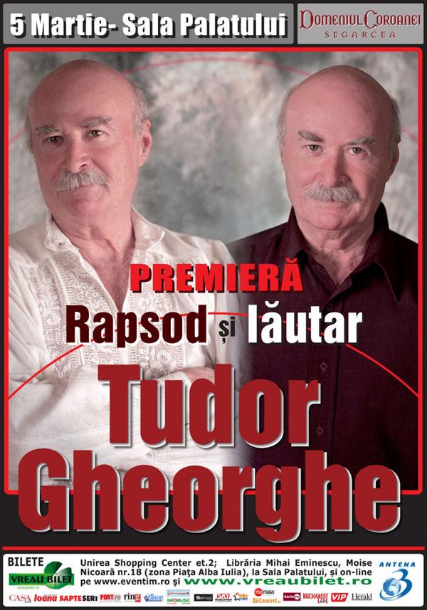 Afis concert Tudor Gheorghe - Rapsod si lautar