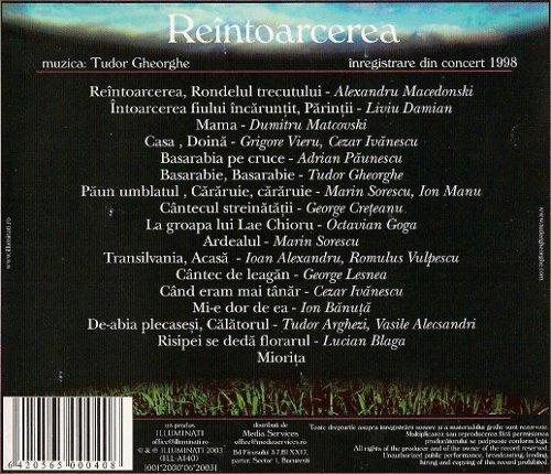Album Tudor Gheorghe - Reintoarcerea - spate